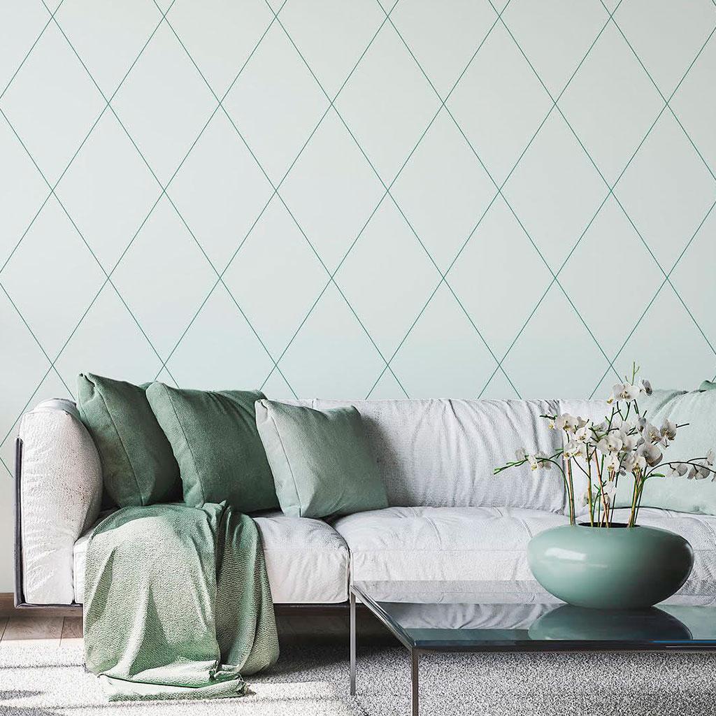 Diseño de interiores con papel pintado