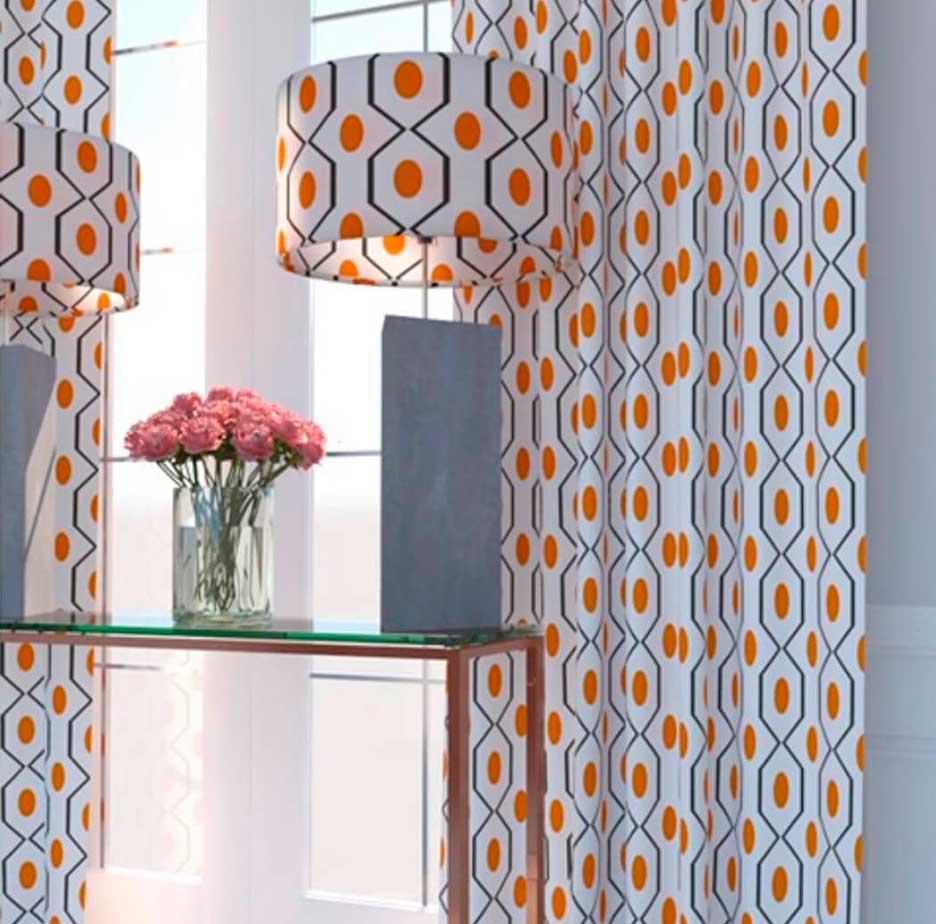 Personalizar con telas de diseño en cortinas